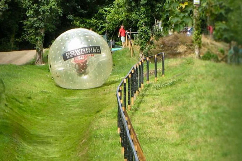 £39 instead of up to £89.99 for a harness or hydro zorbing experience for 2 and t-shirts at GO Zorbing, Surrey - save 57%