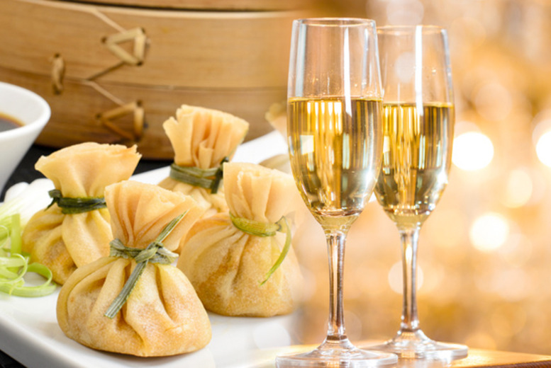 £49 instead of £95 for an Asian sharing platter for 2 inc. bottle of Veuve Clicquot Yellow Label Champagne at JuJu, King's Road - save 48%