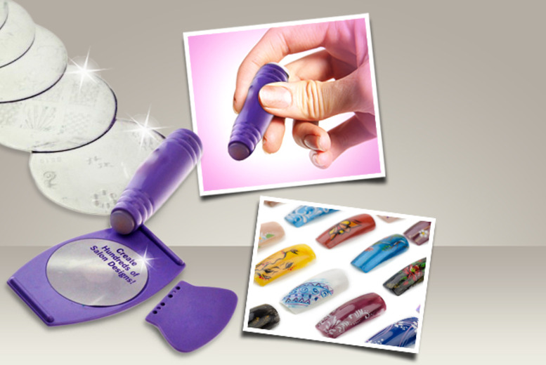 £9 instead of £24.95 (from SalonBoxed) for a DIY nail art stamp kit - accessorise your nails and save 64%