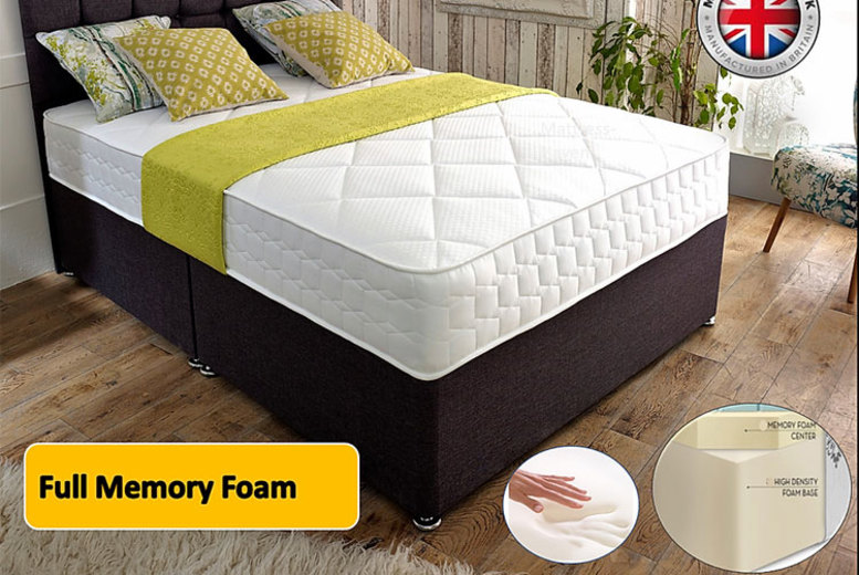 From £159 for a cool-flex full memory foam mattress, 2 in  or 3 in of memory foam from Mattress Haven – save up to 80%