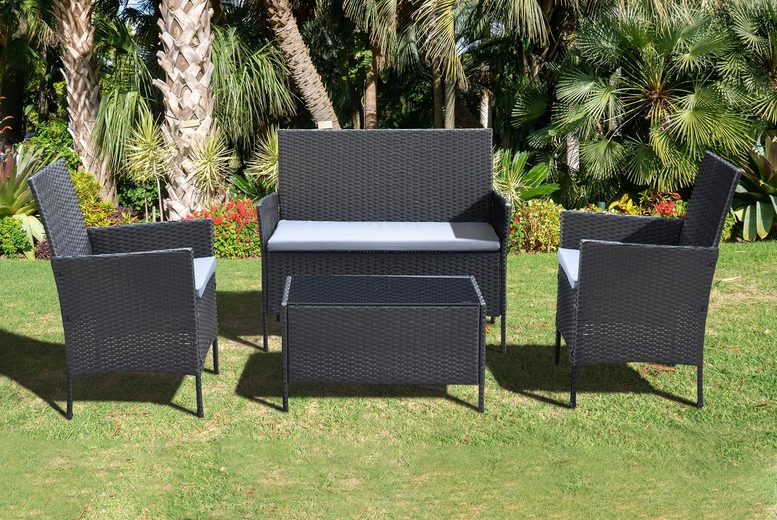 Marylebone 4pc Rattan Garden Furniture Set – 3 Colours! (£99)