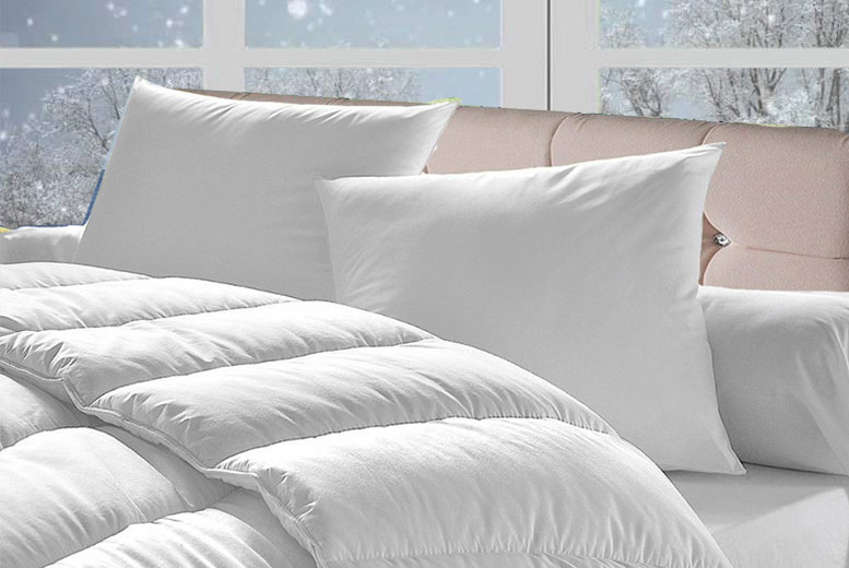 £14.99 for a 15 tog winter duvet and four pillows, £17.99 for a double, £21.99 for a king, or £24.99 for a super king from Direct Warehouse Ltd – save up to 75%