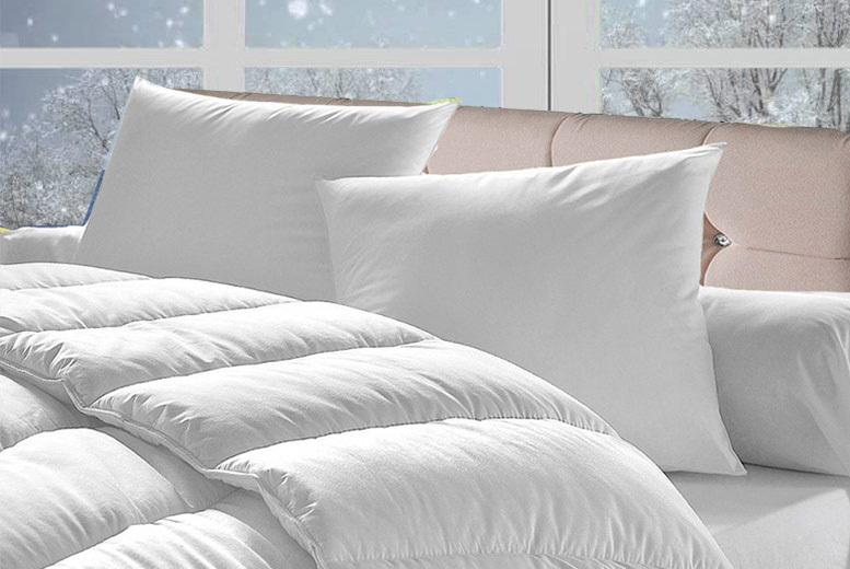 15 Tog Bounce Back Duvet & 4 Pillows – 4 Sizes! (£14.99)