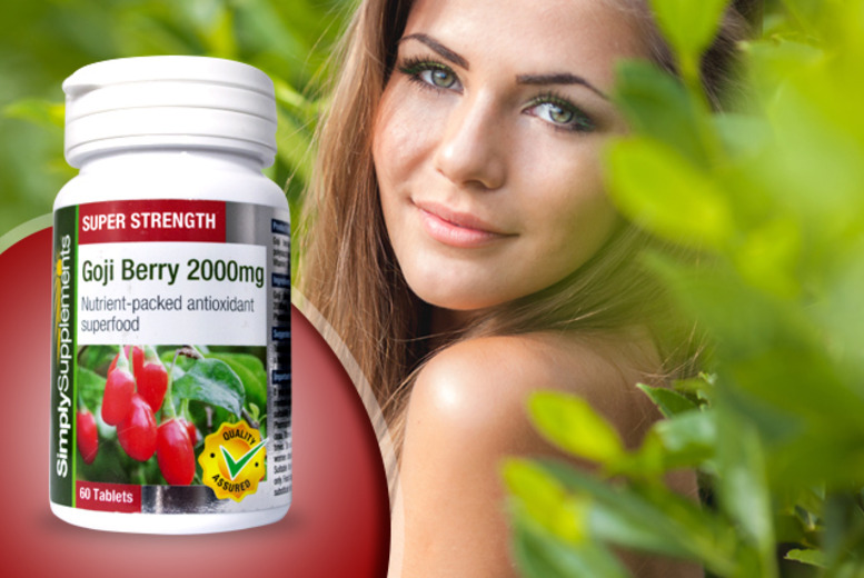 £8.99 instead of £17.98 (from Simply Supplements) for a 240-capsule bottle of goji berry supplements - save 50% + DELIVERY INCLUDED!