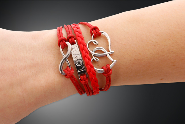 £9.99 instead of £55.98 (from Brilliant Ideas Jewellery) for your choice of two infinity bracelets - save 82%