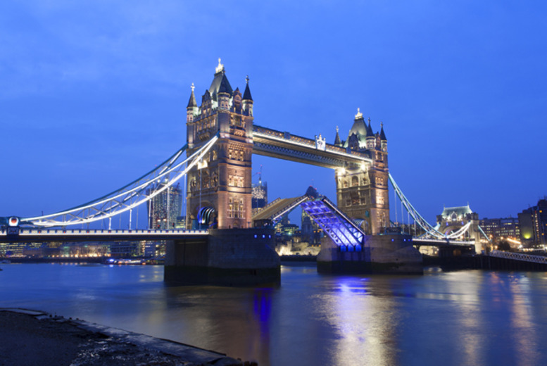 £29 for a ticket for one or £54 for two tickets to a 4-hour Thames boat party including buffet and champagne reception with West End on the Thames
