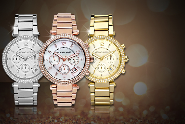 £169 instead of £229 (from Castile Jewellery) for a Michael Kors Parker ladies watch in a choice of 3 colours - save 26% + DELIVERY IS INCLUDED!