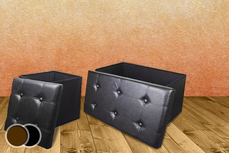 £20 for a black or brown ottoman storage cube, £34 for a bench or £45 for both from Wowcher Direct - save up to 50% + DELIVERY INCLUDED!
