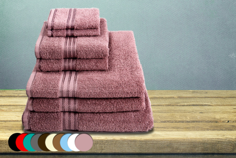 £25.99 instead of £67 (from United Home Stores) for a 7-piece Egyptian cotton towel set with DELIVERY INCLUDED - save 61%