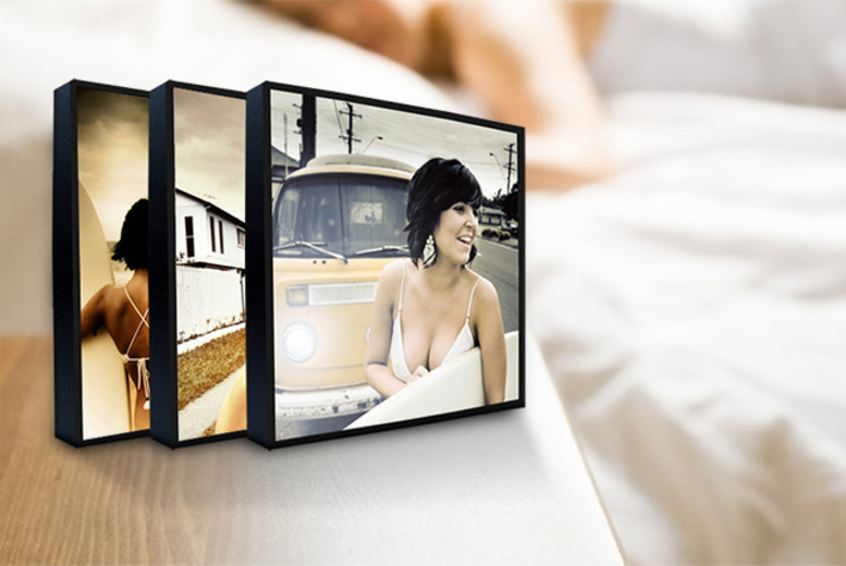 "£14 instead of £51 (from The Image Box) for three 5"" x 5"" wooden photo blocks - display your pictures in style & save 73%"