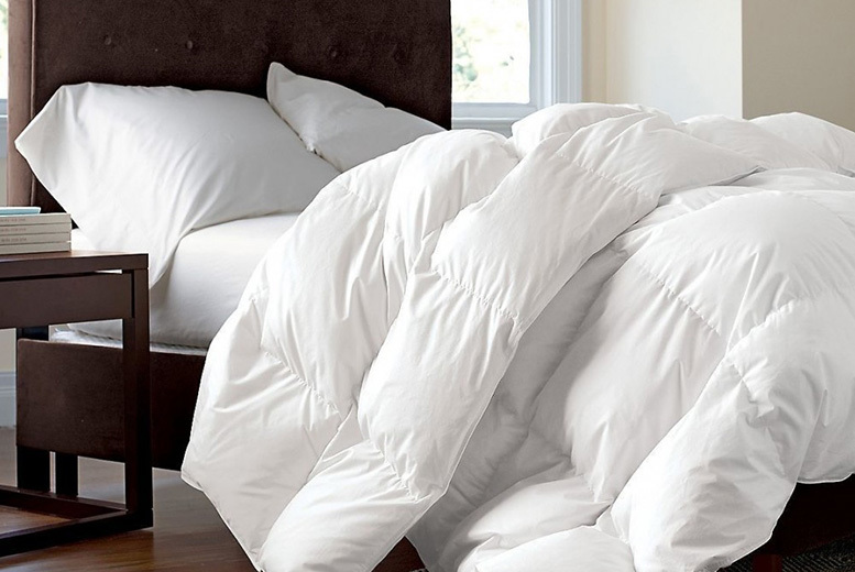 From £19.99 instead of £44.99 (from Direct Warehouse Ltd) for a single 13.5 tog duck feather and down duvet – save up to 54%
