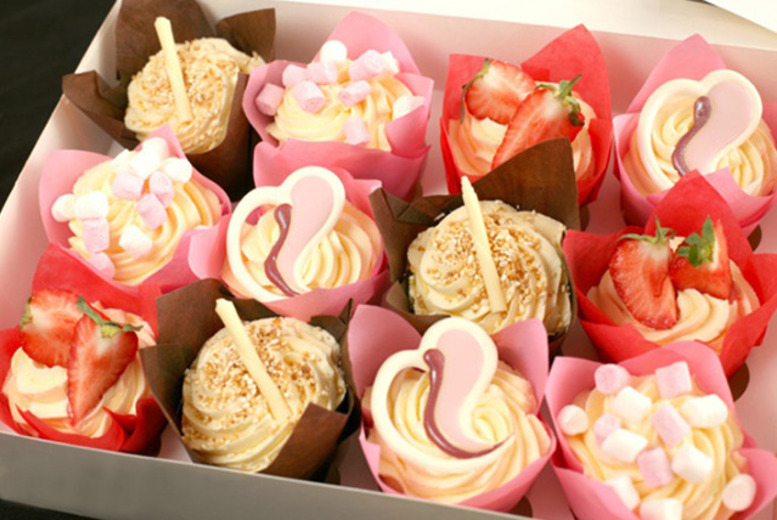 £9.99 instead of £42 for a box of 12 Valentine's cupcakes or cake pops, or £18 for both (24 in total) from 3D Cupcakes, Edinburgh - save up to 76%