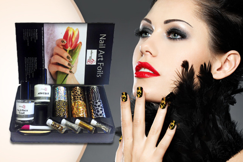 £9.99 instead of £59.99 (from Millennium Nails) for a nail art foil kit, £16.99 for 2 kits - save up to 83%