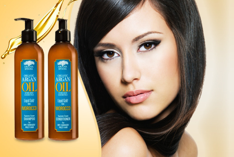 £7.99 instead of £25.98 for 300ml Argan Oil shampoo and 300ml Argan Oil conditioner from Wowcher Direct - save 69% + DELIVERY INCLUDED!