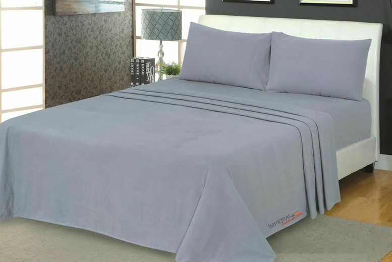 £10 instead of £42.99 (from Imperial Beddings) for a double brushed cotton flannelette fitted sheet, £12 for a double