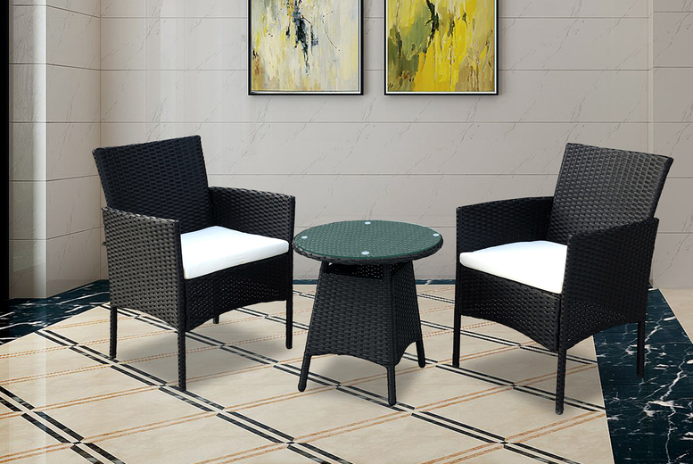 3-Piece Rattan Furniture Set – 3 Colours! (£69)