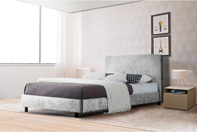 From £68 instead of £370 (from UKFurniture4u) for a crushed velvet Panama bed, or £128 for a bed and mattress – choose from three sizes and save up to 81%