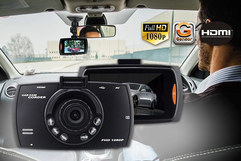 """£14.99 (from EFMall) for a 2.7"""" HD in-car dashboard CCTV accident camera"""