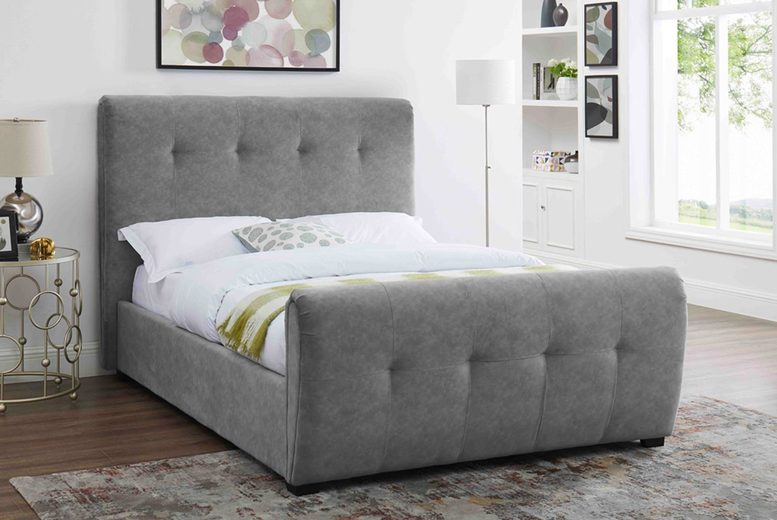 From £369 (from The Furniture Department) for a double Tampa fabric bed frame, £389 for a king or £429 for a super king with mattress options!