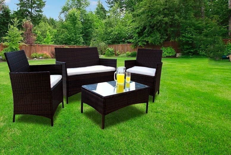 4-Seater Rattan Furniture Set – 2 Colours! (£99)