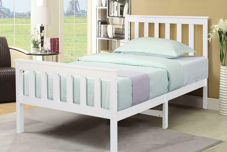 £49 instead of £180 (from Cosmo Buy) for solid pine wooden slated single bed – save 72%