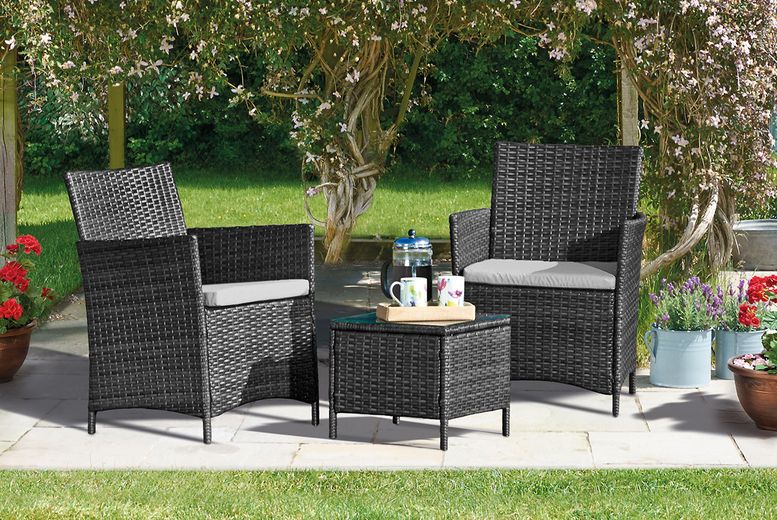 3pc Rattan Bistro Set – Includes Furniture Cover! (£99.99)