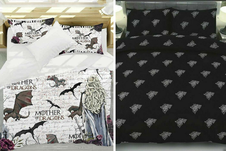 £9.99 (from Imperial Beddings) for a Game of Thrones inspired single duvet set or £12.99 for a double duvet set!