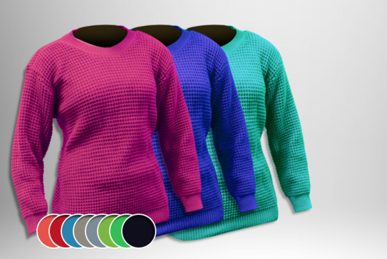 £9.99 instead of £34.99 (from The Digital Warehouse) for an oversized fishnet jumper in your choice of 12 colours - save 71%