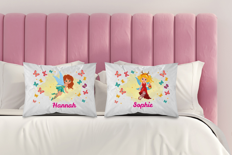 £3.99 (from Personalised Gifts Market) for a kids' personalised fairy pillowcase