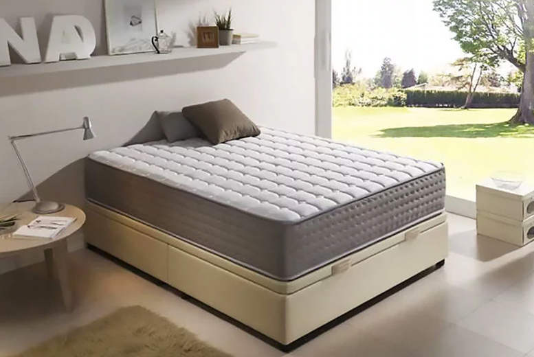 From £89 (from Dining Tables) for a small single 13-zone memory foam sprung mattress – choose your size and save up to 78%