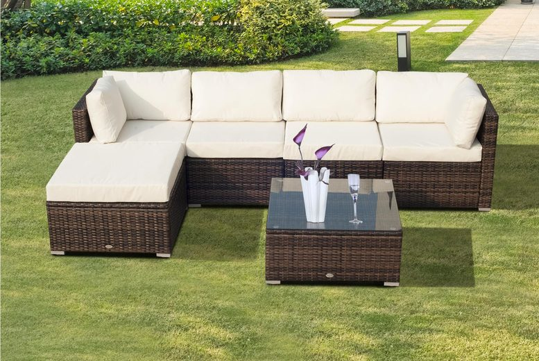 6pc Rattan Garden Furniture Set (£479)