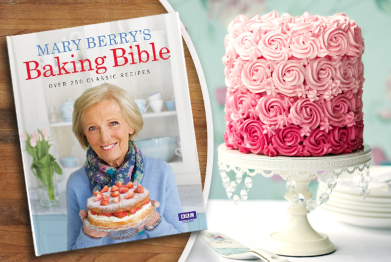 £13 (from Random House) for a hardback copy of Mary Berry's Baking Bible cookbook!