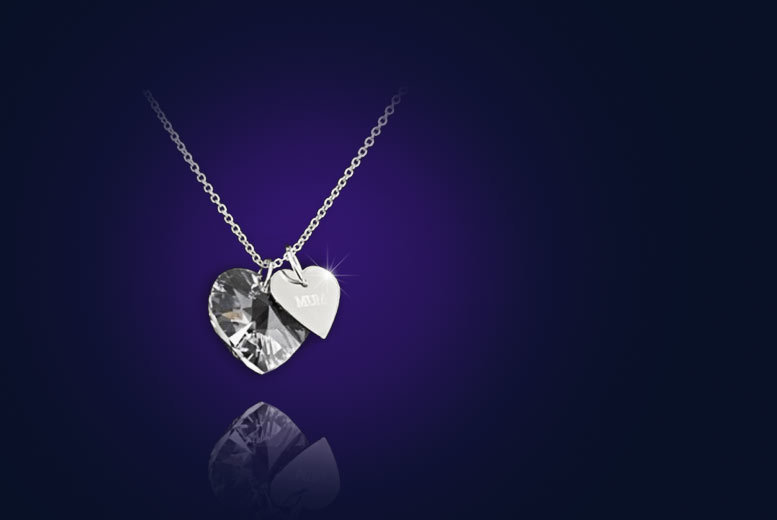 £7 instead of £110 (from Your Ideal Gift) for a crystal heart pendant 18k white gold plated 'Mum' necklace – save 94%