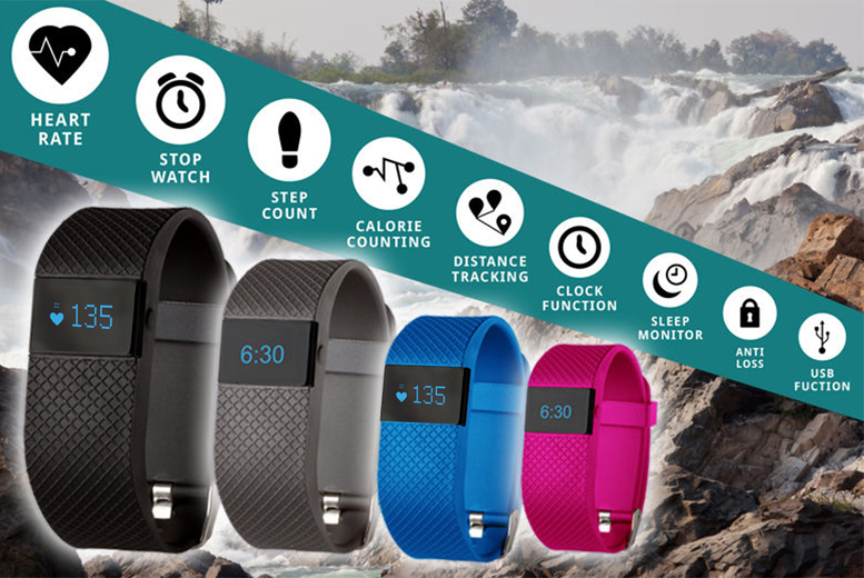 £19.99 instead of £101 for a next-gen TW64s 8-in-1 Bluetooth sports activity bracelet with heart rate monitor from Ckent Ltd - choose from four colours and save 80%