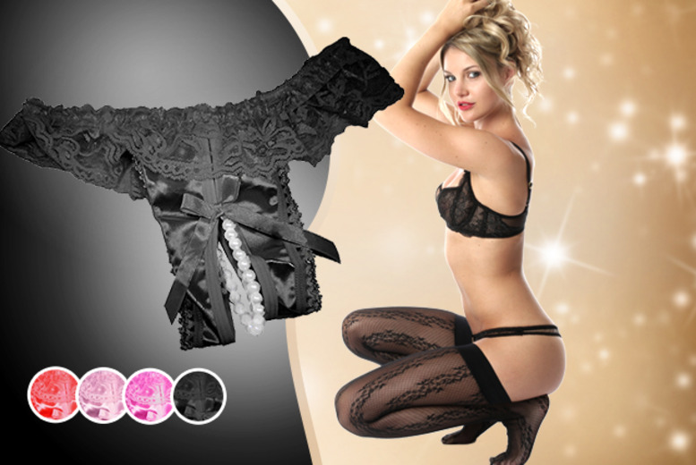 £8 instead of £25 (from Cerichic) for a pearl thong in a choice of 4 colours - save an ass-tronomical 68%
