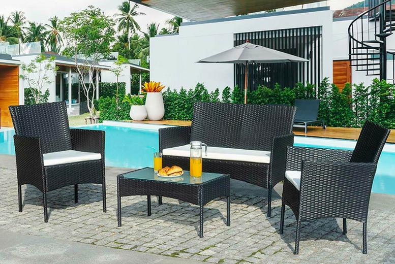 4-Seater Rattan Garden Furniture Set (£99)