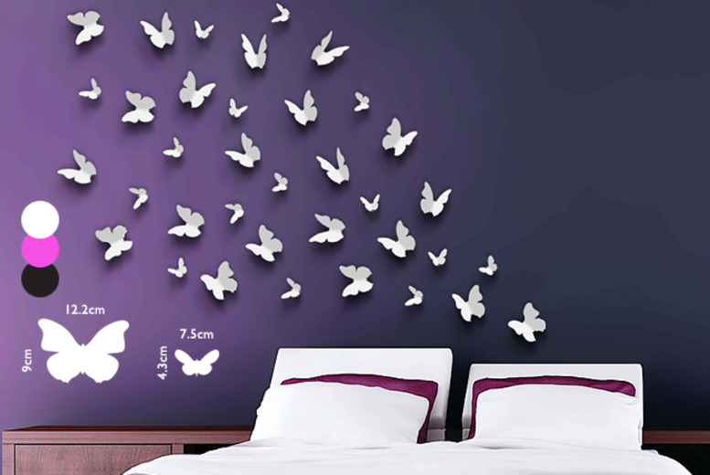 £7.99 instead of £29.99 (from Walplus) for a set of butterfly wall stickers - save a snazzy 73%