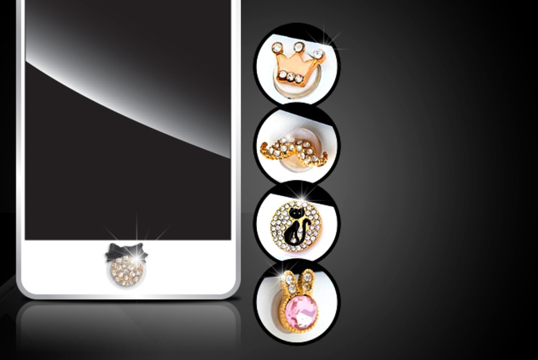 £5 instead of £16.99 (from Boni Caro) for a crystal iPhone button - jazz up your phone and save 71%