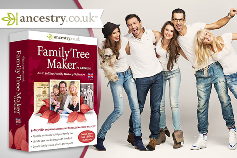 £29 (from Avanquest Software) for the Family Tree Maker® 2014 Platinum Edition