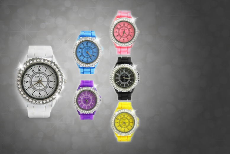 £8 instead of up to £29.99 (from Marcus Emporium) for a silicone Geneva watch with or without Swarovski Elements crystals - save up to 73%