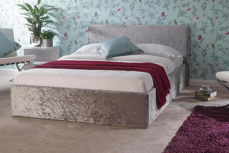 £149 (from Right Deals) for a double steel crushed velvet ottoman storage bed or £159 for a king size steel crushed velvet ottoman storage bed