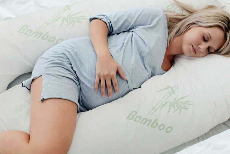 £29.99 instead of £59.99 (from Direct Warehouse) for a U-Shape bamboo memory foam pillow – save 50%