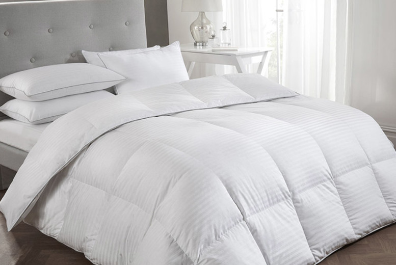 From £56 (from Cascade Home) for a premium white goose feather down duvet – choose from three sizes and two tog variations!