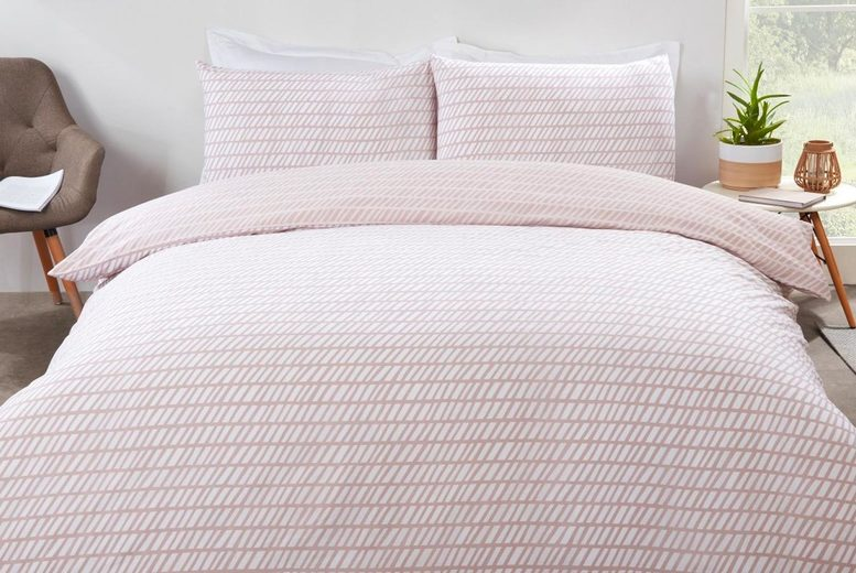 £11 (from Five Minutes More) for a single chevron duvet cover set, £15 for a double chevron duvet cover set, £17 for a king size chevron duvet cover set or £18 for a super king size chevron duvet cover set!