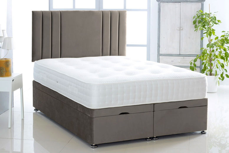 From £369 (from Serenity Designs) for Rio III plush velvet ottoman divan bed and mattress – choose from eight colours and five sizes!
