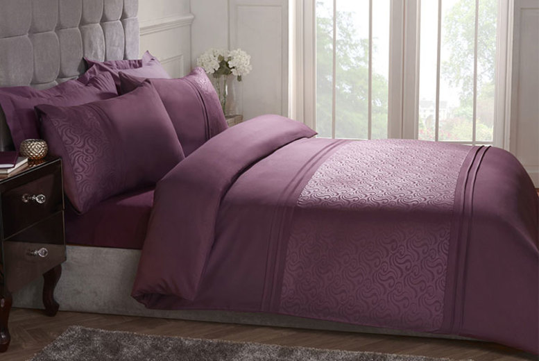 From £12.99 (from Cascade Home) for an embossed swirl duvet set – choose from three sizes and two colours!