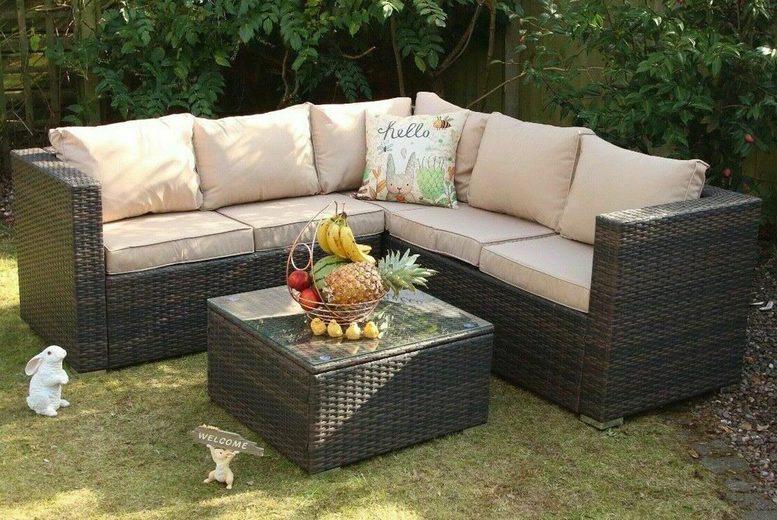 5-Seater Yakoe Monaco Rattan Outdoor Sofa Set – 4 Colours! (£329)