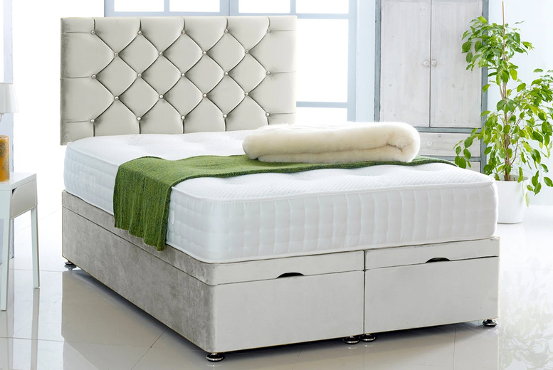 From £369 (from Serenity Designs) for a single plush velvet ottoman divan bed with mattress!