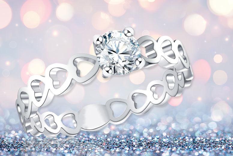 10k sapphire ring of love