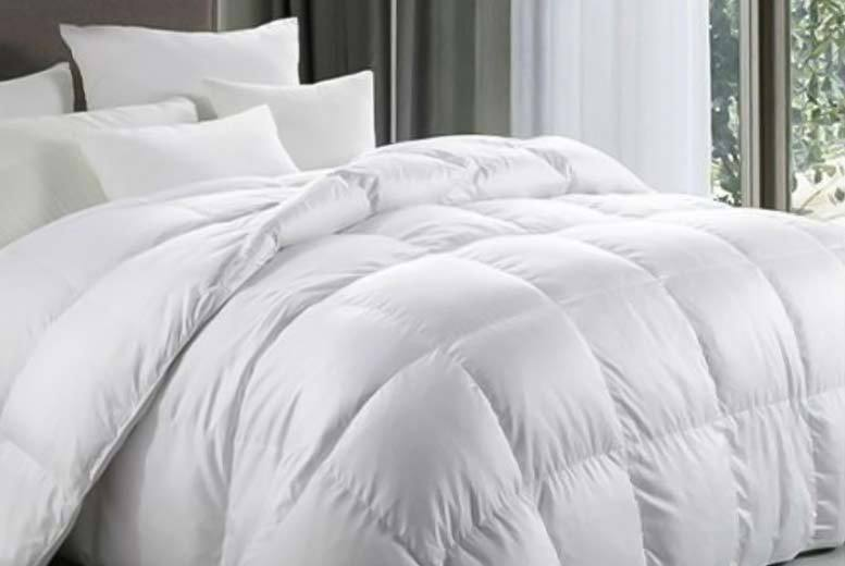 £22.99 (from Groundlevel) for single hotel quality 13.5 tog duck and down duvet, £29.99 for a double, £32.99 for a king or £34.99 for a super king - save 67%